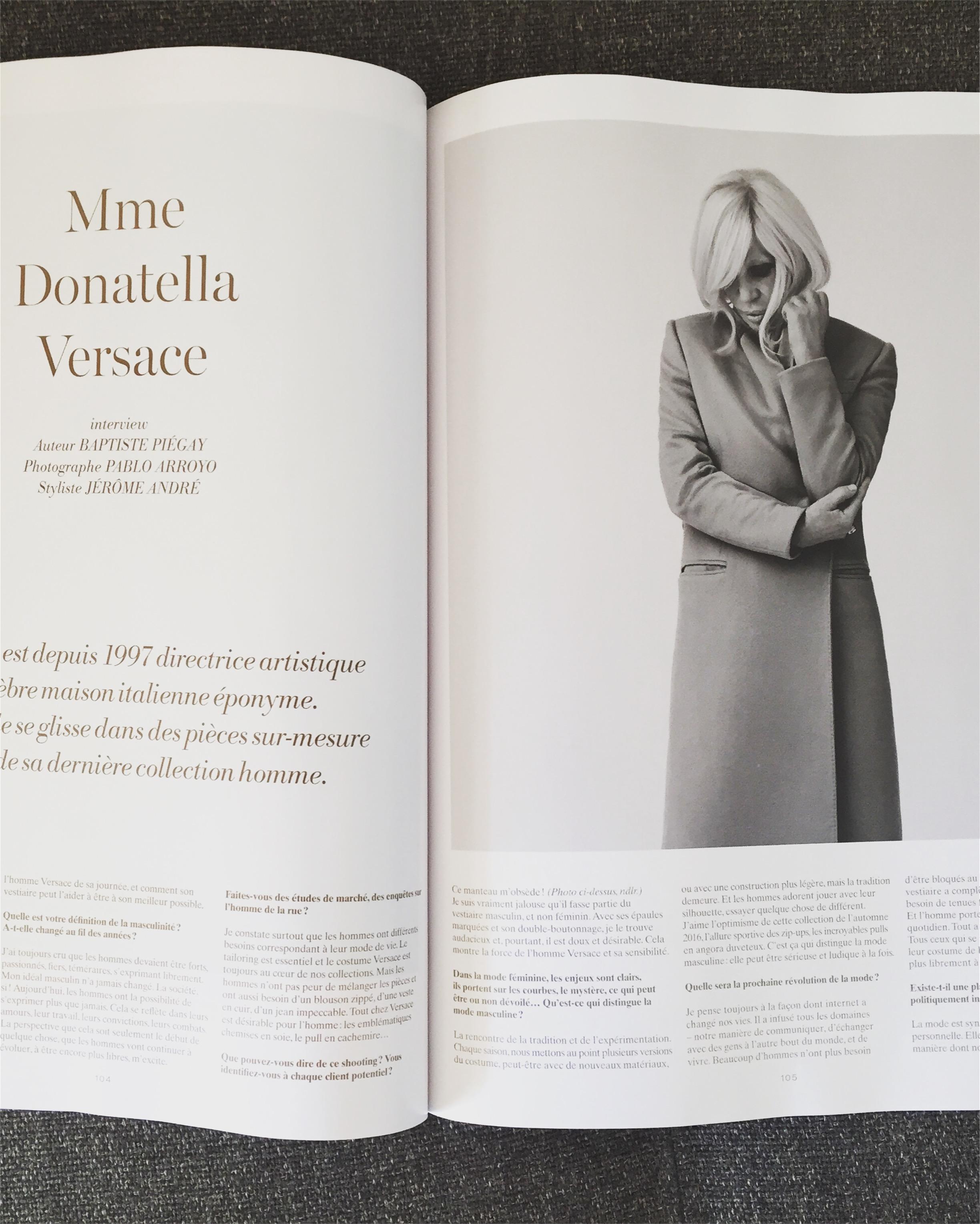 ©Pablo Arroyo - L'Officiel Hommes - Donatella Versace